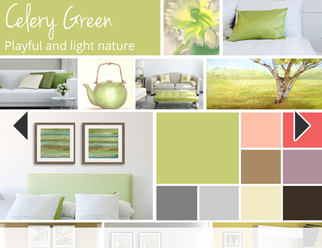 Canvas Celery Green Art