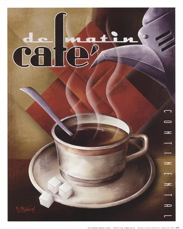 Cafe de Matin by Michael Kungl art print