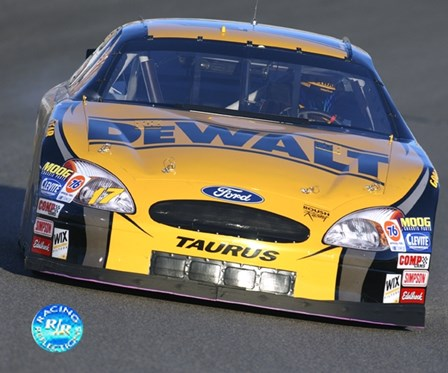 Matt Kenseth front view on Dewalt car in action art print