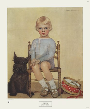 Boy with Dog by Maria Fabre art print