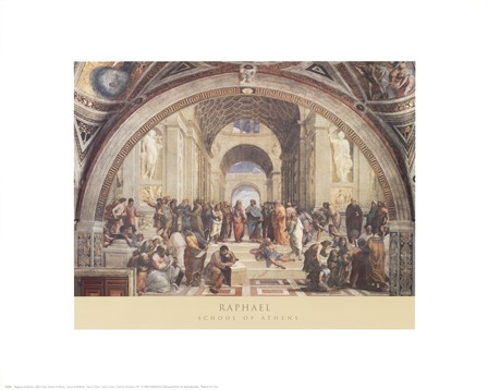 The School of Athens, c.1511 by Raphael art print