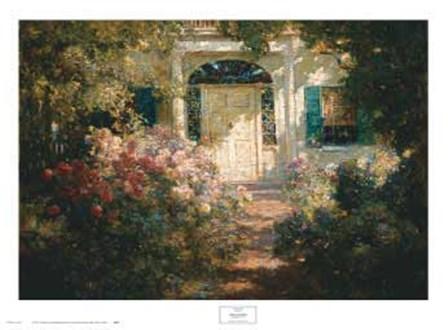 Doorway and Garden by Abbott Fuller Graves art print