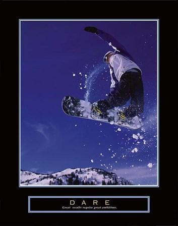 Dare – Snowboarder art print