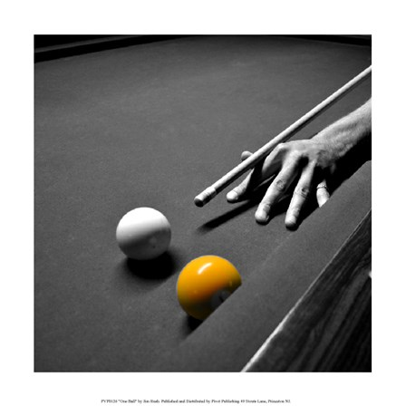 One Ball by Jim Rush art print