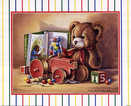 Child Toys II by Peggy Thatch Sibley art print