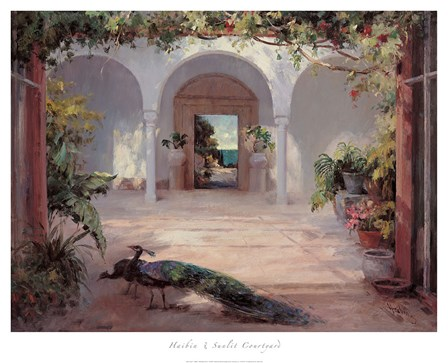 Sunlit Courtyard by Haibin art print