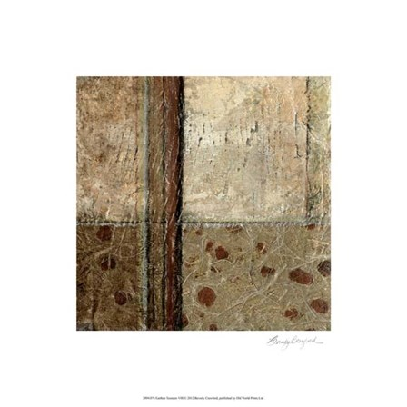 Earthen Textures VIII by Beverly Crawford art print