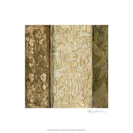 Earthen Textures X by Beverly Crawford art print