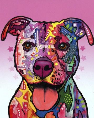 Cherish The Pitbull by Dean Russo art print