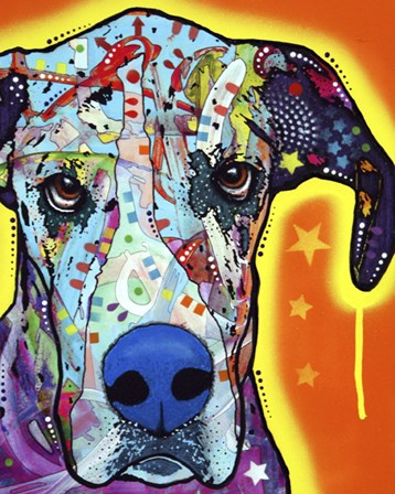 Great Dane by Dean Russo art print