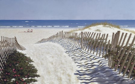 Walk To The Beach by Zhen-Huan Lu art print