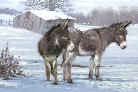 Donkey Pair by The Macneil Studio art print