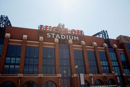 Facade of the Lucas Oil Stadium, Indianapolis, Indiana by Panoramic Images art print