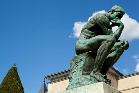 Statue at Musee Rodin, Paris, Ile-de-France, France by Panoramic Images art print
