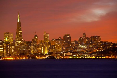 San Francisco Financial District at Dusk, San Francisco, California by Panoramic Images art print