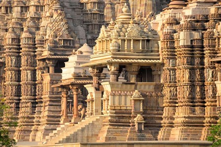 Khajuraho temple, Chhatarpur District, Madhya Pradesh, India by Panoramic Images art print