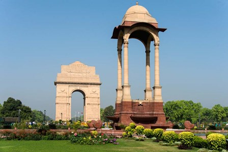 View of the India Gate, New Delhi, India by Panoramic Images art print