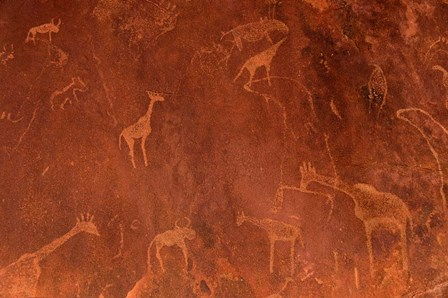 Cave Paintings by Bushmen, Damaraland, Namibia by Panoramic Images art print