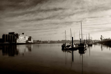 Early Morning River Suir, Waterford City, Ireland by Panoramic Images art print