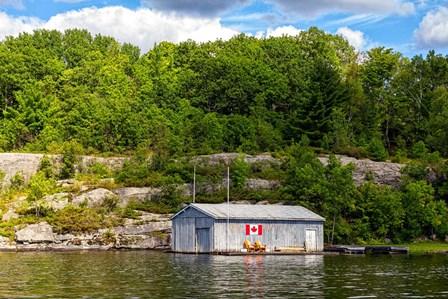 Old Metal Boathouse, Lake Muskoka, Ontario, Canada by Panoramic Images art print