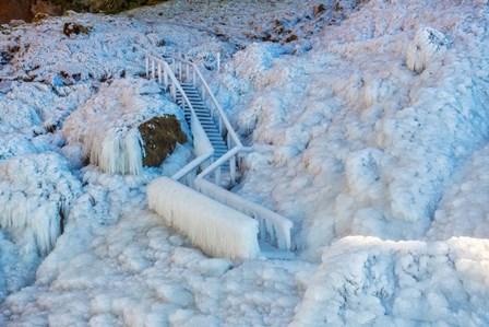 Frozen Staircase by Seljalandsfoss Waterfall, Iceland by Panoramic Images art print