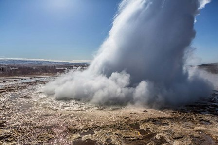 Strokkur Geyser Erupting, Iceland by Panoramic Images art print