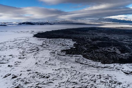 Lava and Snow at the Holuhraun Fissure, Bardarbunga Volcano, Iceland. by Panoramic Images art print
