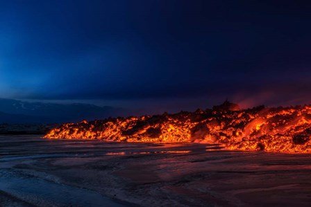 Glowing Lava, Iceland by Panoramic Images art print