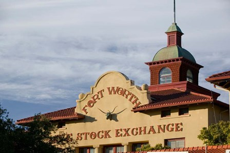 Fort Worth Livestock Exchange, Fort Worth, Texas by Panoramic Images art print