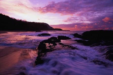 Lumahai Beach at Sunset, HI by Panoramic Images art print