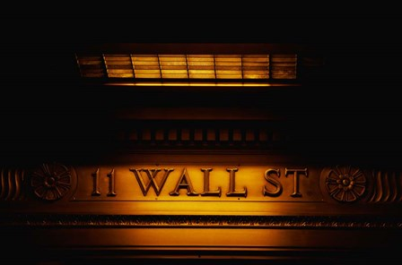 11 Wall St. Building Sign by Panoramic Images art print