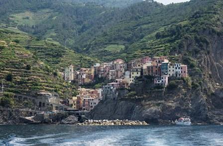 Manarola, Riomaggiore, La Spezia, Liguria, Italy by Panoramic Images art print