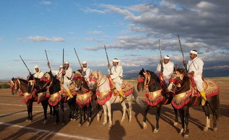 Berber Horsemen, Dades Valley, Morocco by Panoramic Images art print