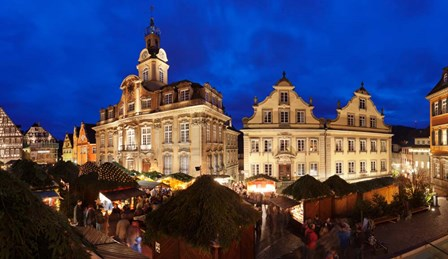 Christmas Fair, Schwabisch Hall, Hohenlohe, Baden-Wurttemberg, Germany by Panoramic Images art print
