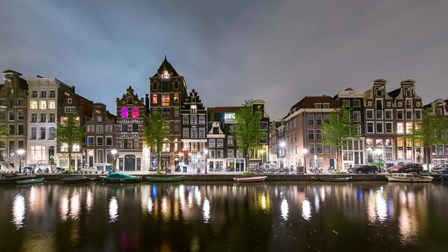 Herengracht in Central Canal Ring Grachtengordel, North Holland, Netherlands by Panoramic Images art print