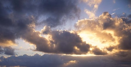 Sun Breaking through the Clouds by Panoramic Images art print