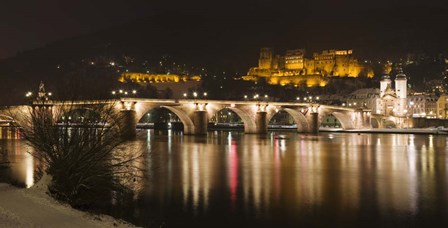 Carl Theodor Bridge, Heidelberg, Baden-Wurttemberg, Germany by Panoramic Images art print