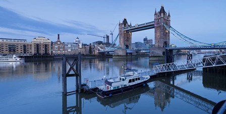 St. Katharine Pier and Tower Bridge, Thames River, London, England by Panoramic Images art print