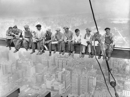 New York Construction Workers Lunching on a Crossbeam, 1932 by Charles C. Ebbets art print