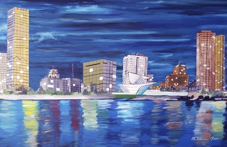 Milwaukee by Shacream Artist art print