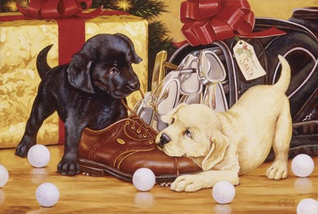 Lab Golf by Christopher Nick art print
