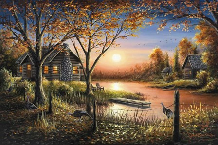 An Autumn Sunset by Chuck Black art print