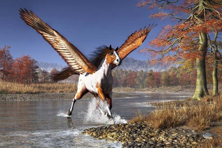 Autumn Pegasus by Daniel Eskridge art print