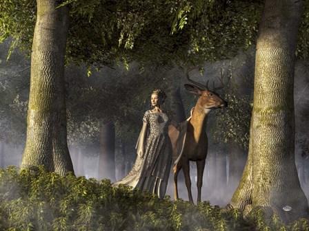 Elf And Buck by Daniel Eskridge art print