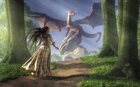 Facing The Red Dragon by Daniel Eskridge art print