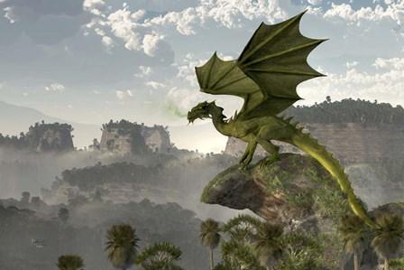 Green Dragon by Daniel Eskridge art print
