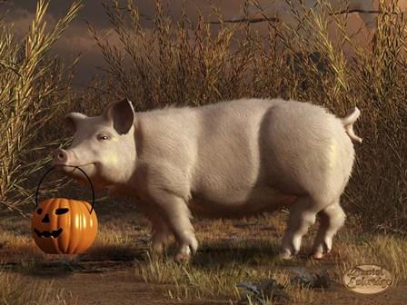 Halloween Pig by Daniel Eskridge art print