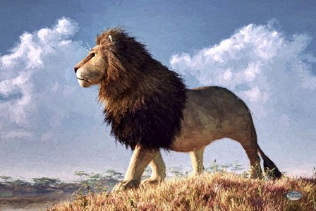 Impressionist Lion by Daniel Eskridge art print