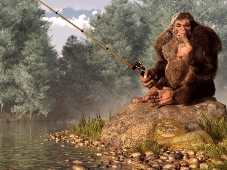 Squatch Fishing by Daniel Eskridge art print