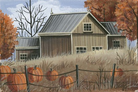 Pumpkin Field by Debbi Wetzel art print